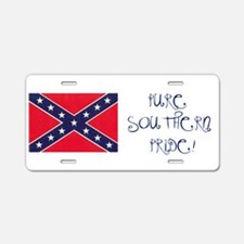 Pure Southern Pride Aluminum License Plate