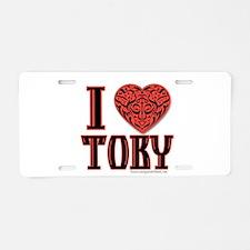 Toby Aluminum License Plate
