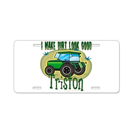 Triston Tractor Aluminum License Plate