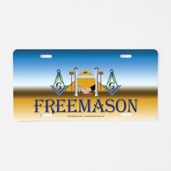 Brother Freemason Aluminum License Plate
