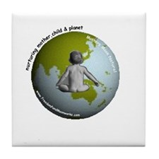 Mothers Moon Natural PLanet Tile Coaster