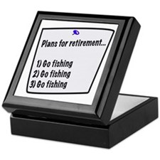 Retirement Plans (fishing) Keepsake Box