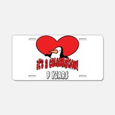 9th Celebration Aluminum License Plate