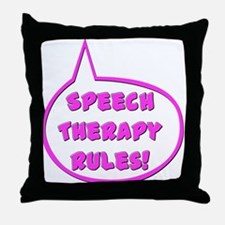 Speech therapy Rules! (pink) Throw Pillow