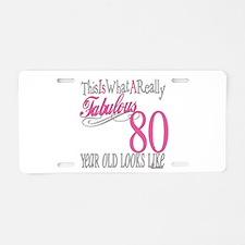 80th Birthday Gift Aluminum License Plate