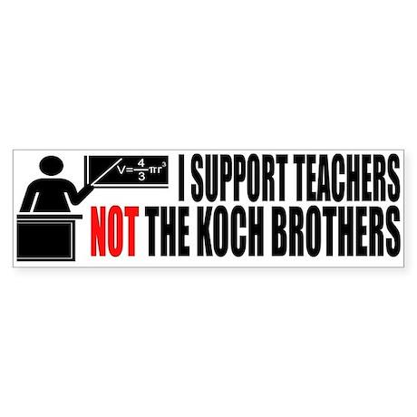 I SUPPORT TEACHERS Sticker (Bumper)