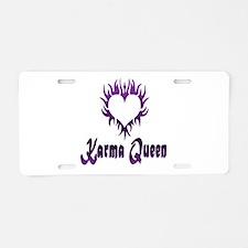 Karma Queen Aluminum License Plate