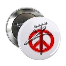 Peace Chinese symbol Button