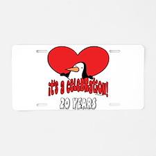 20th Celebration Aluminum License Plate
