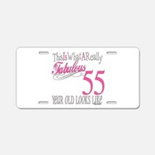 55th Birthday Gifts Aluminum License Plate