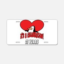 31st Celebration Aluminum License Plate