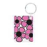 Pink Garden Aluminum Keychain