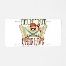 Captain Hawk Aluminum License Plate