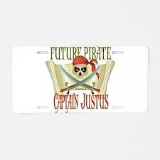 Captain Justus Aluminum License Plate