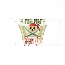 Captain Kade Aluminum License Plate