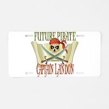 Captain Landon Aluminum License Plate