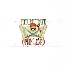 Captain Lazaro Aluminum License Plate