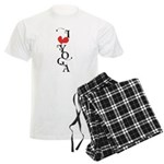 I heart YOGA Men's Light Pajamas