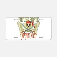 Captain Nico Aluminum License Plate
