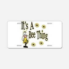 Bee Thing! Aluminum License Plate