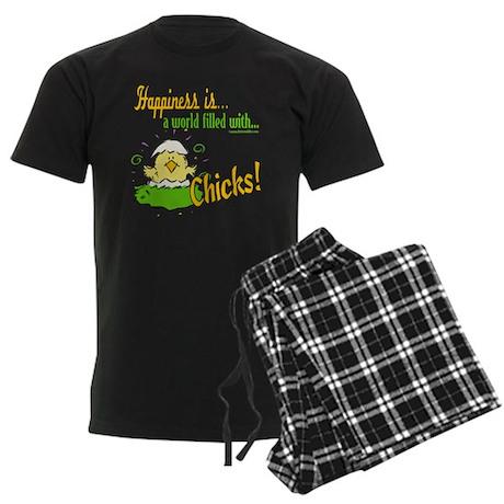 Happiness is a Chick Men's Dark Pajamas