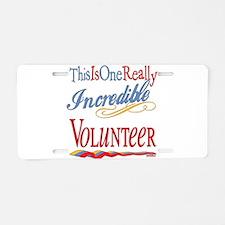 Incredible Volunteer Aluminum License Plate