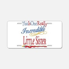 Little Sister Aluminum License Plate