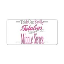 Middle SIster Aluminum License Plate