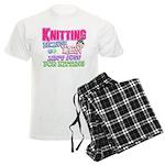 Knitting Kitten Men's Light Pajamas