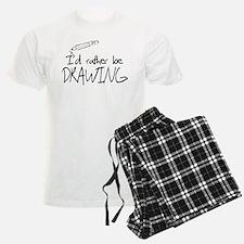 I'd Rather Be Drawing pajamas