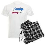 Grandpa - No Spoiling! Men's Light Pajamas