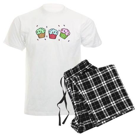 Three Cupcakes Men's Light Pajamas