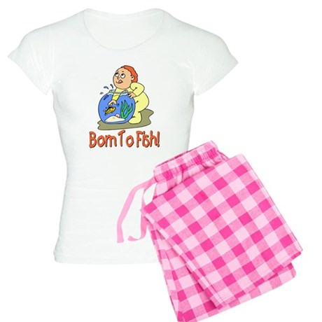 Born To Fish Women's Light Pajamas