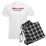 Heart Teacher/Mom Men's Light Pajamas
