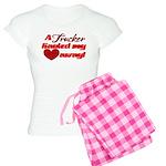 Trucker Hauled My Heart Awa Women's Light Pajamas