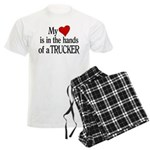 My Heart in the Hands Trucker Men's Light Pajamas