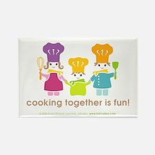 Family of Chefs Fridge Magnet