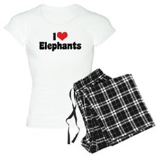 I Love Elephants 2 Pajamas