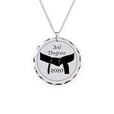 3rd Degree Black Belt Necklace Circle Charm