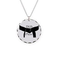 Martial Arts TKD Mom Necklace Circle Charm