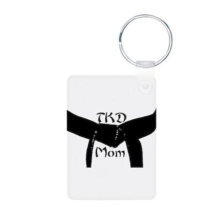 Martial Arts TKD Mom Aluminum Photo Keychain