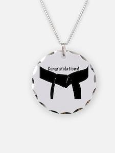 Black Belt Congrats Necklace