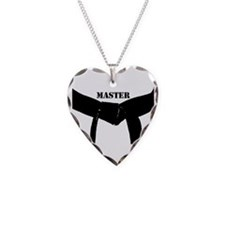 Martial Arts Master Necklace Heart Charm