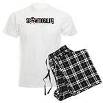 Snowmobile Skull Men's Light Pajamas