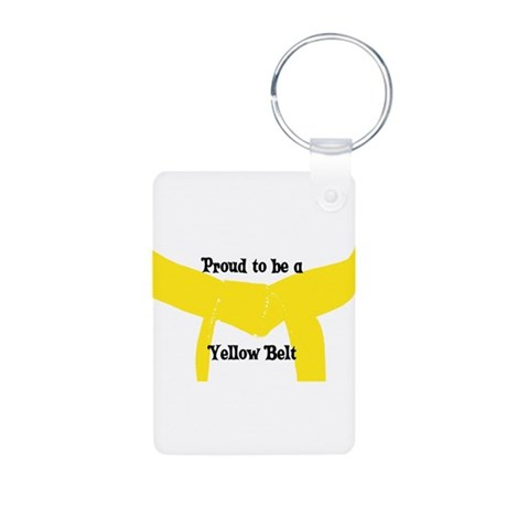 Proud to be a Yellow Belt Aluminum Photo Keychain