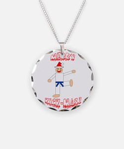 Martial Arts Christmas Necklace
