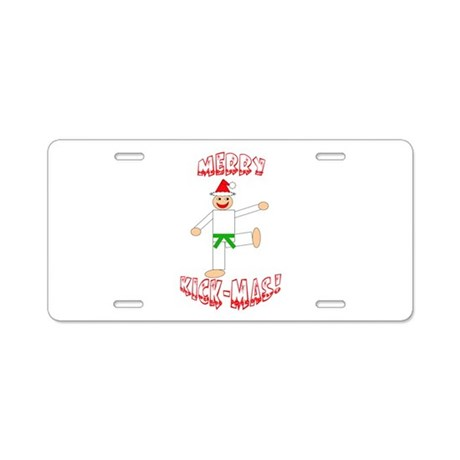 Martial Arts Christmas Aluminum License Plate