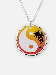 Palm Trees Yin Yang Necklace