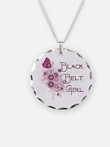 Black Belt Girl Necklace