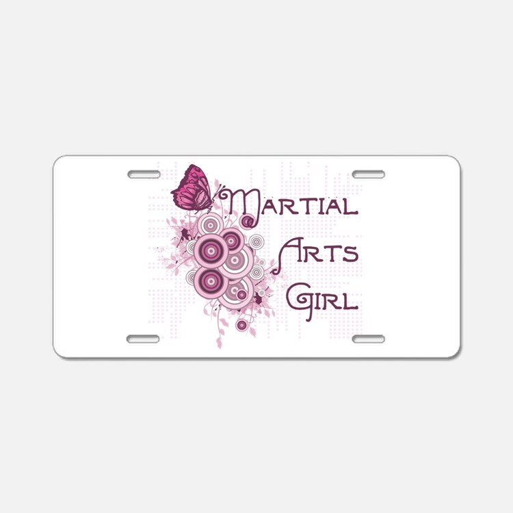 Martial Arts Girl Aluminum License Plate